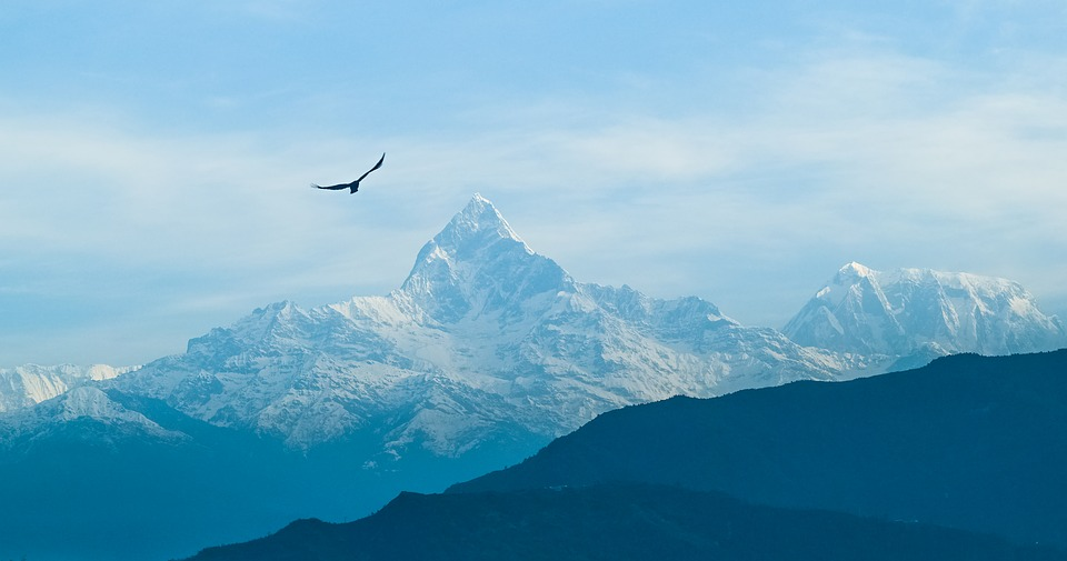 View of Mt. Fishtail from one of the beautiful treks in the Annapurna